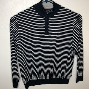 Nautical Blue striped pullover sweater.  Size XXL